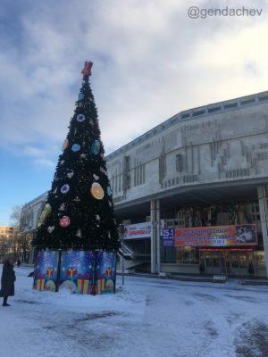 ロシアの巨大なクリスマスツリー