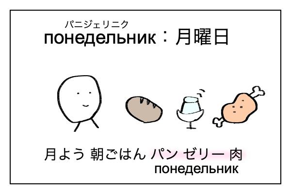 ロシア語で月曜日